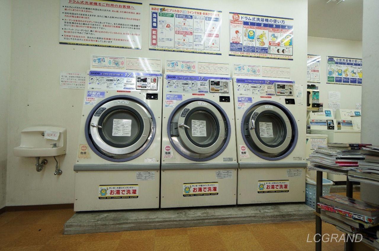 クリンクリンオオバにある大きな洗い物も洗える大型の洗濯機