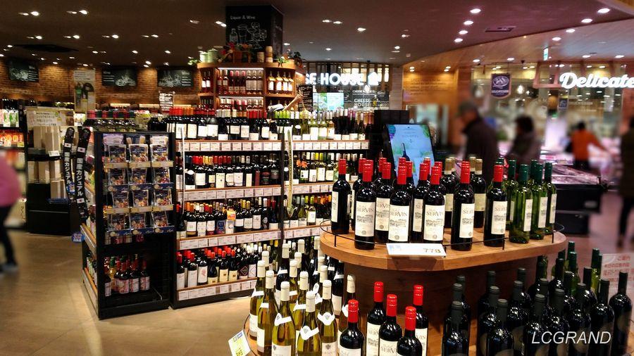 ワインとその他のお酒があるライフ桜新町店のお酒コーナー