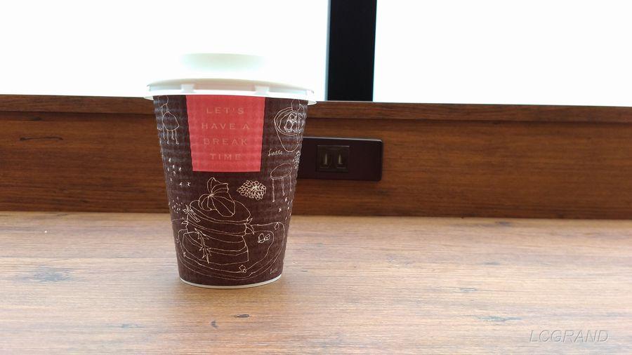 ライフ桜新町店のライフカフェにて購入したホットコーヒー
