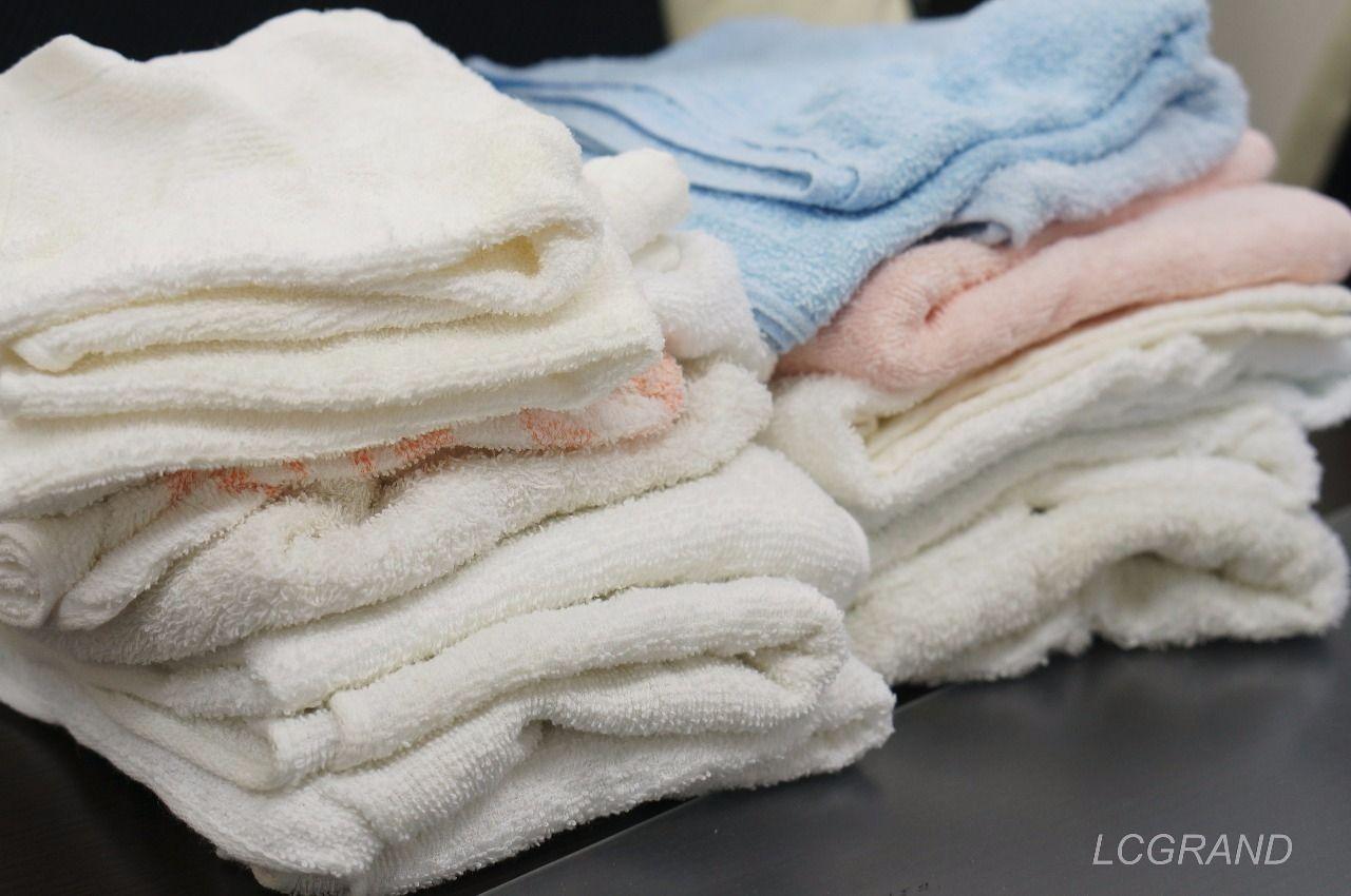 16枚の洗う前のタオル