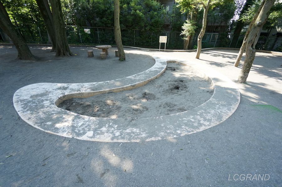 弦巻どんぐり山公園の砂場