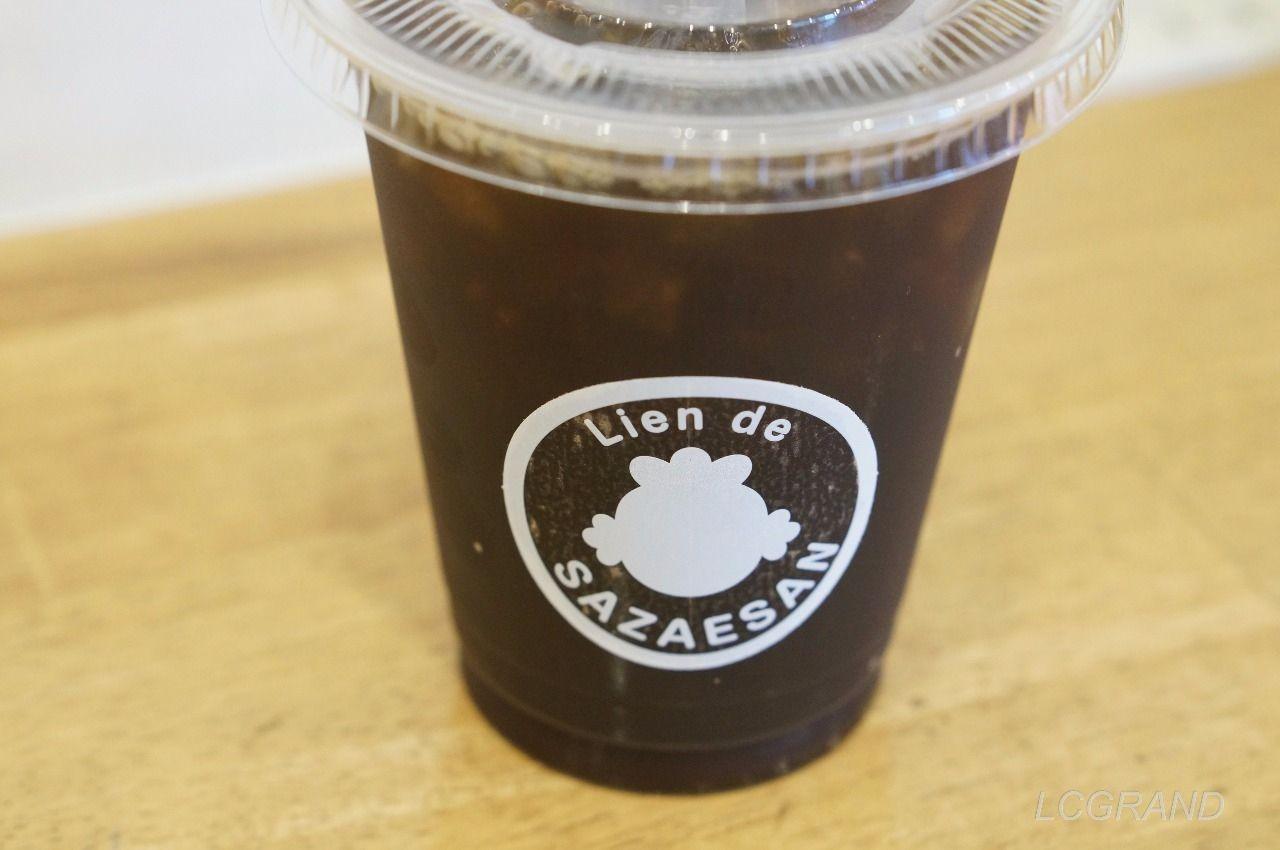 サザエさんカフェのアイスコーヒー