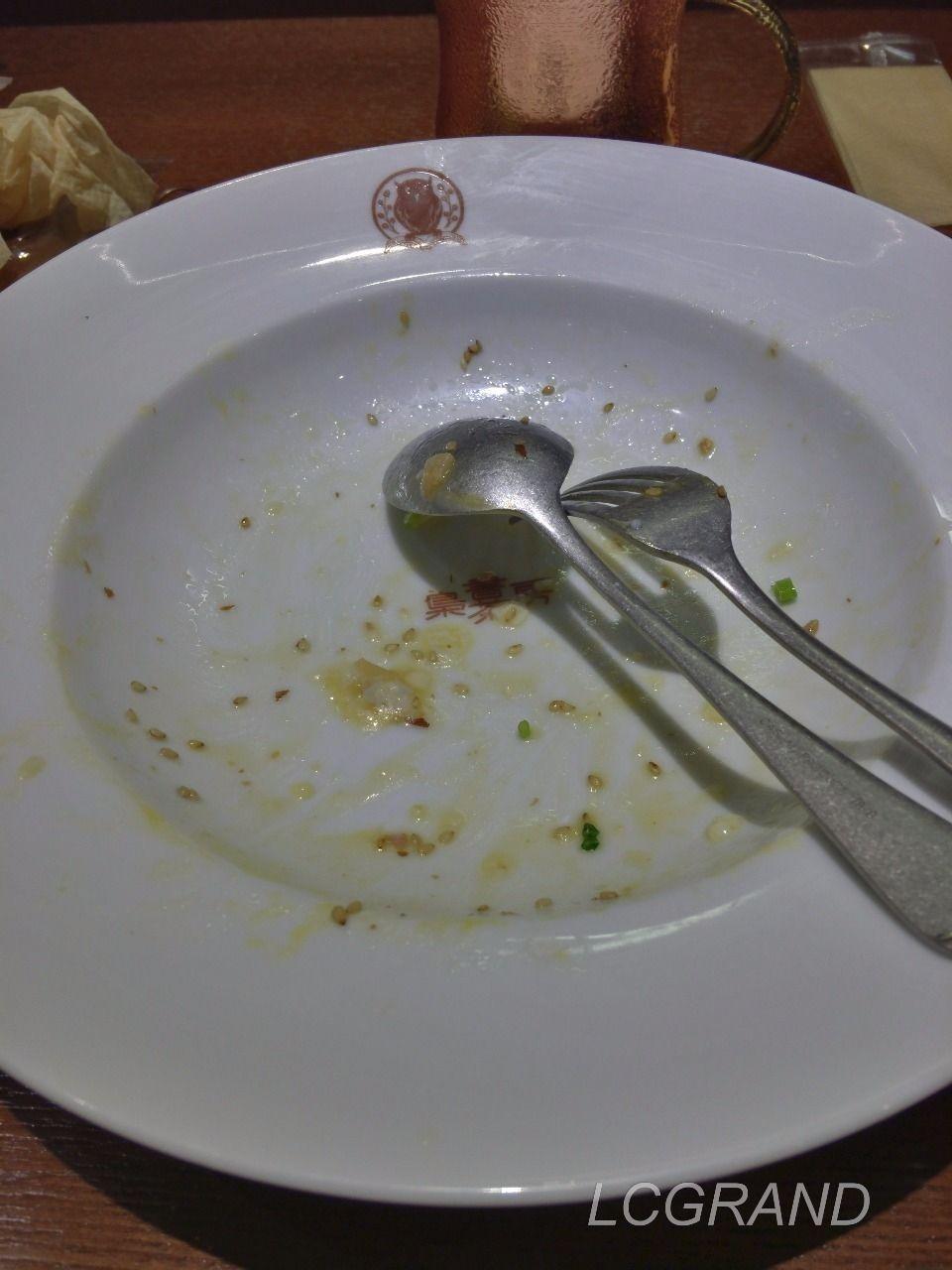 あっという間に完食したイベリコベーコンの醤油バタースパゲッティ