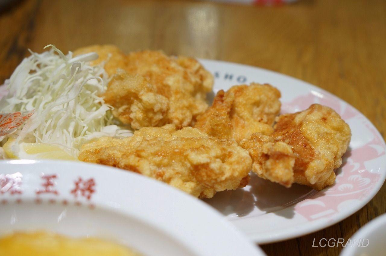 しっかりと肉があり、お塩であっさりと食べられる油っこくない大阪王将の唐揚げ