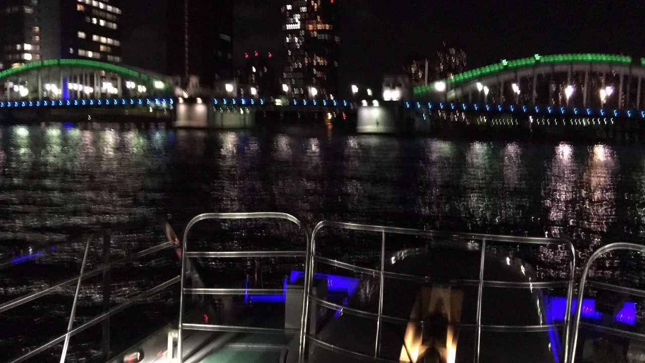 船清 東京湾パーティークルーズ 橋 ブリッジ iPhone6Sで撮影