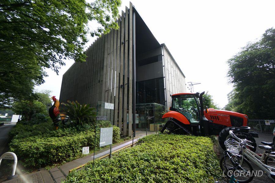 食と農の博物館の建物全体と入り口