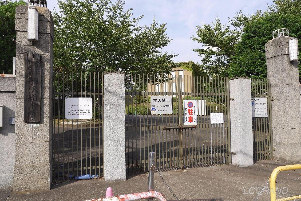 関係者以外立ち入り禁止の駒沢給水所の入口